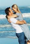 Lovely Couple In Beach